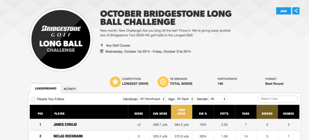Bridgestone Long Drive