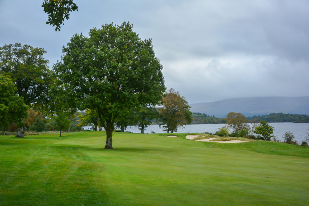 7th hole approach at Loch Lomond