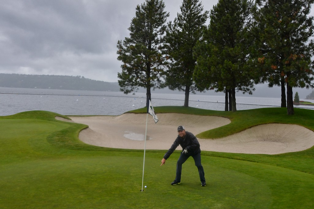 Sean Ogle on the 13th Green at Coeur D'Alene Resort