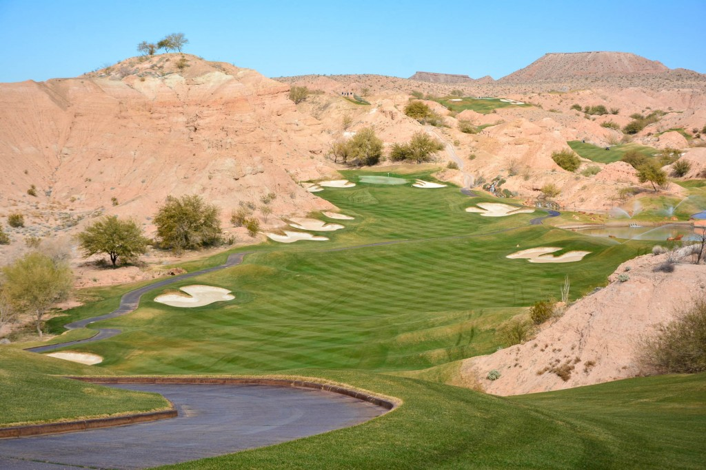 Wolf Creek Golf Club in Mesquite, Nevada is one of the top 100 public courses in america.