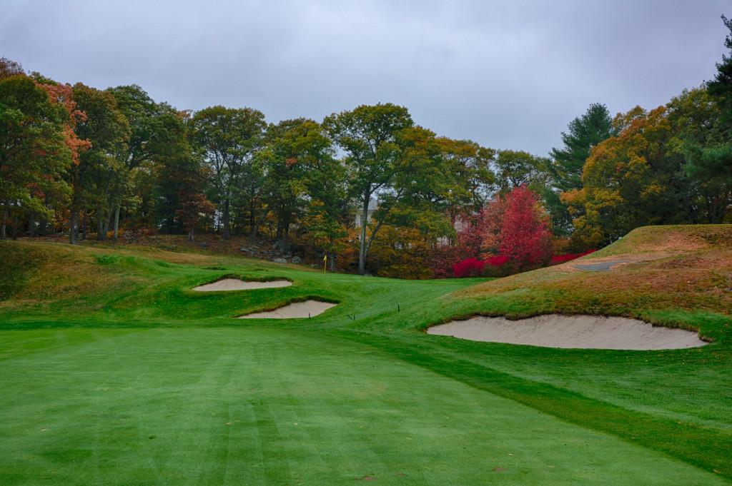 The approach on hole 11 at The Country Club