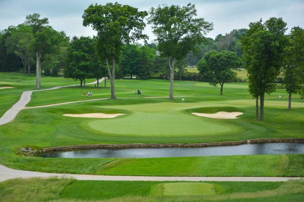 The par 3, 8th at Aronimink