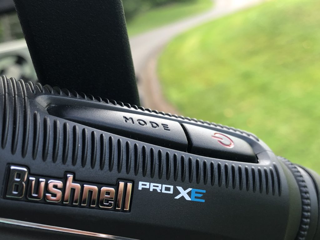 Bushnell Pro XE Mode and Power Buttons