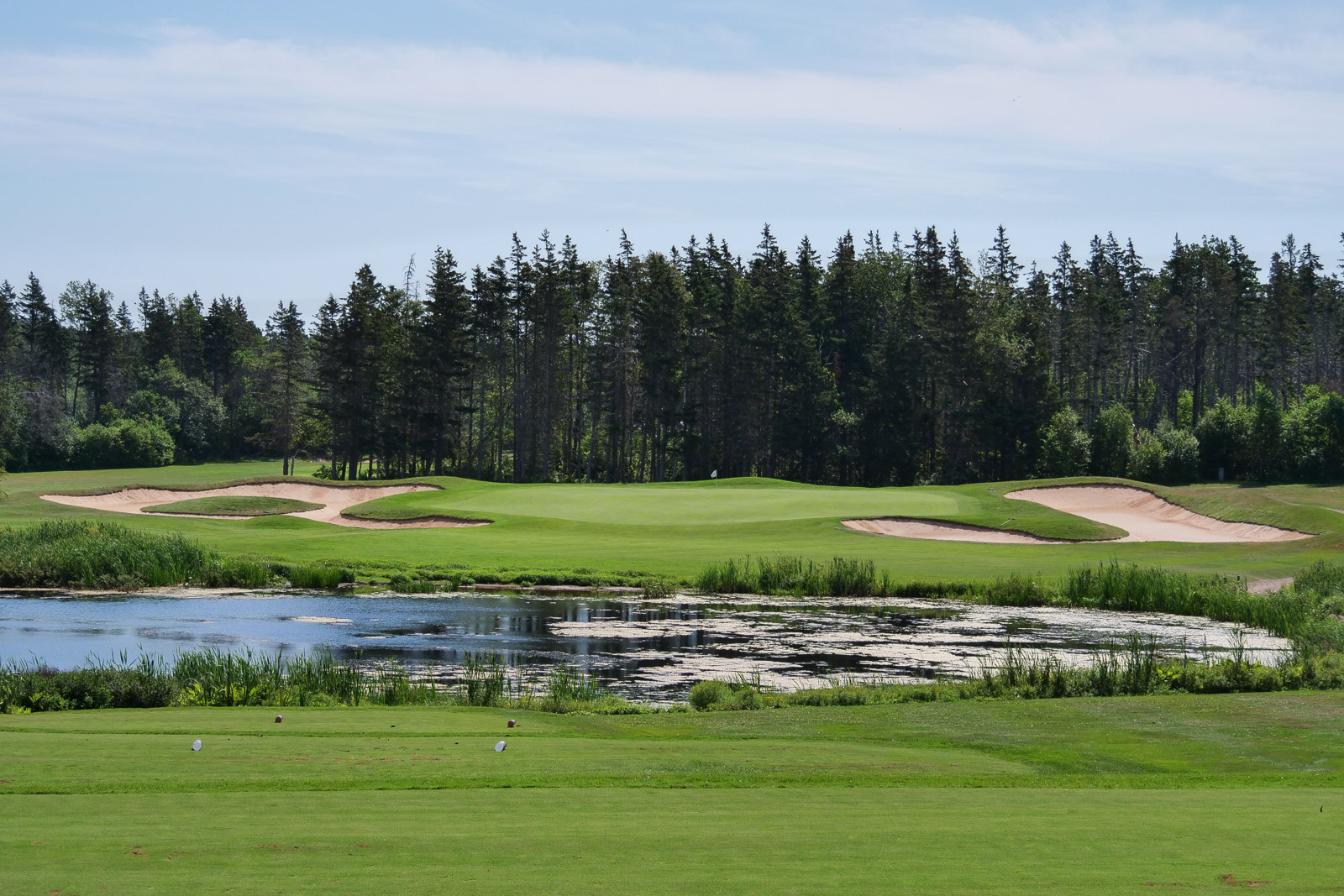The massive par 3, 16th at Green Gables. One of my favorite holes on the island.